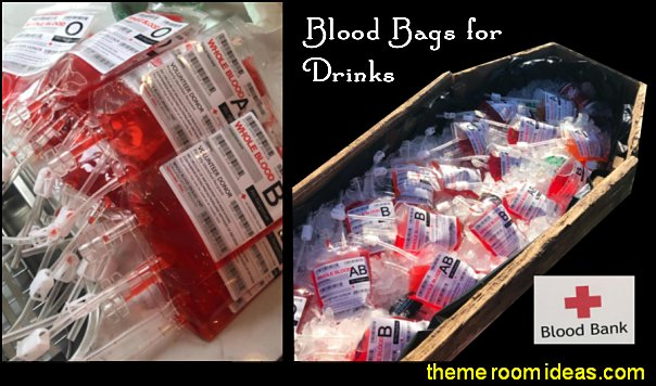 Blood Bags for Drinks Halloween Party Decorations Vampire Zombie Nurse Halloween Party Decorations