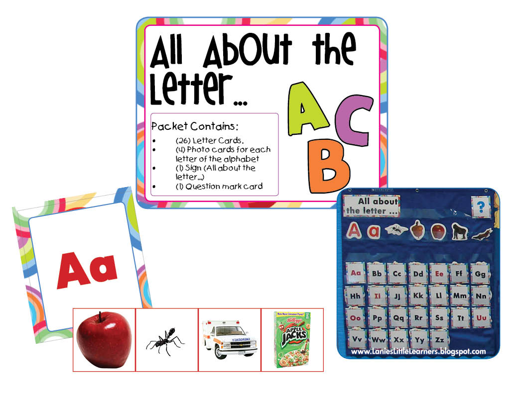 Lanie S Little Learners All About The Letter Pocket Chart Activitiy