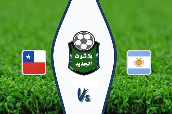 بطاقة حمراء للاعب ميسي قبل انتهاء مباراة الارجنتين وتشيلي