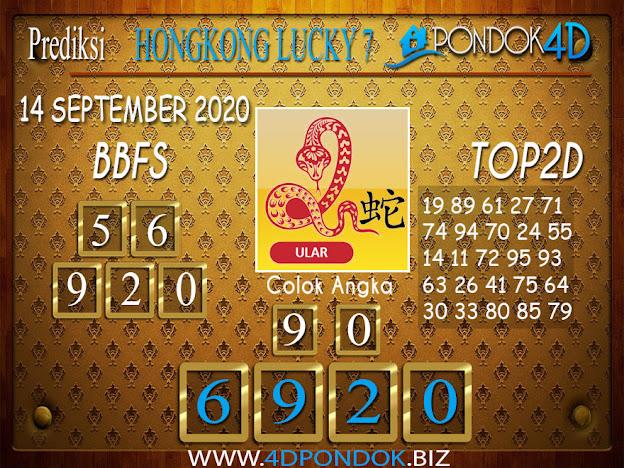 Prediksi Togel HONGKONG LUCKY 7 PONDOK4D 14 SEPTEMBER 2020