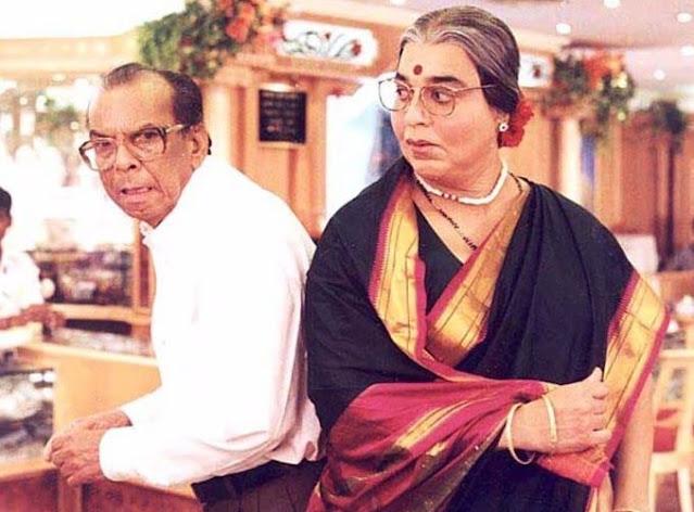 Kamal Haasan and Johnny Walker in Chachi 420 (1997)