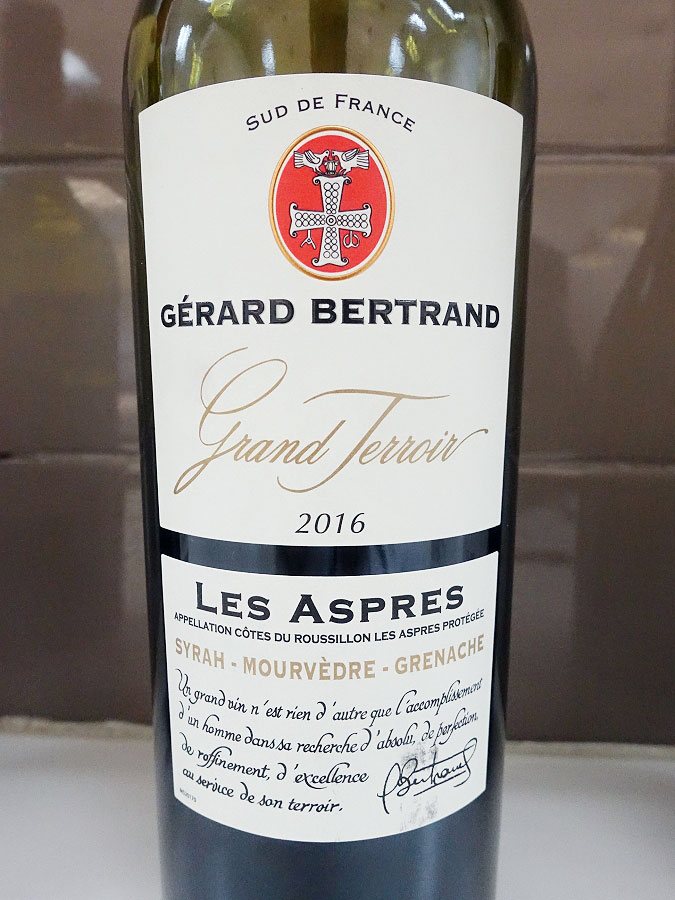 Gérard Bertrand Grand Terroir Les Aspres Syrah/Mourvèdre/Grenache 2016 (88+ pts)