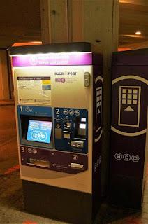 maquina boletos de transporte publico Budapest
