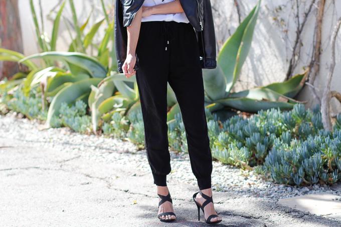 edgy jogger pants look