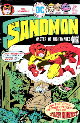 The Sandman v1 #4 dc bronze age comic book cover art by Jack Kirby