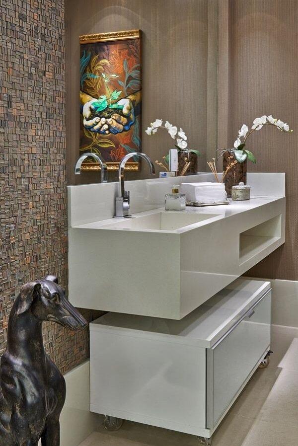 3D adhesive bathroom tile