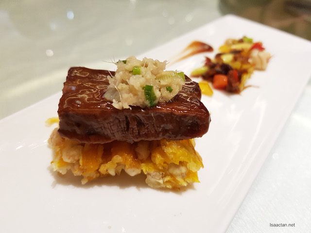 The dish that won 2nd placing at Lee Kum Kee International Young Chef Chinese Culinary Challenge