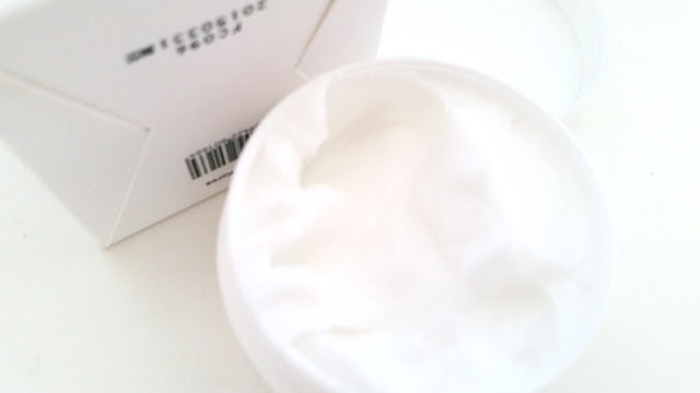 close-up of the cream