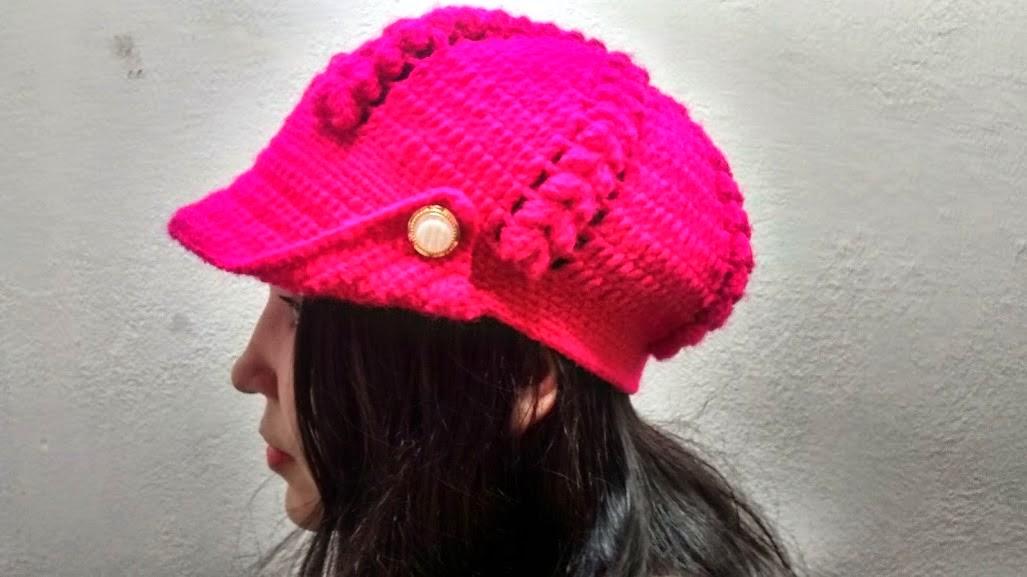 Bya Ferreira - Crochet Designer  Vídeo aula Boina Patricinha df7773c92e1