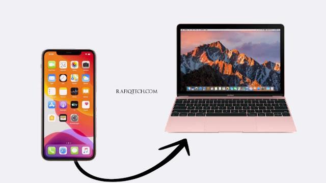 طريقة عرض  شاشة iPhone على Mac