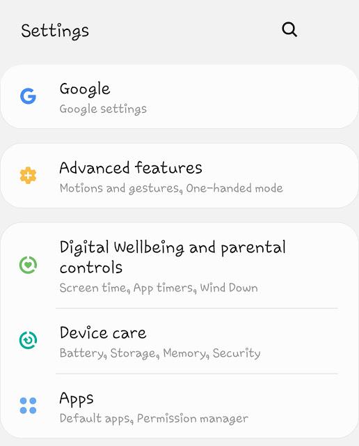 Phone settings