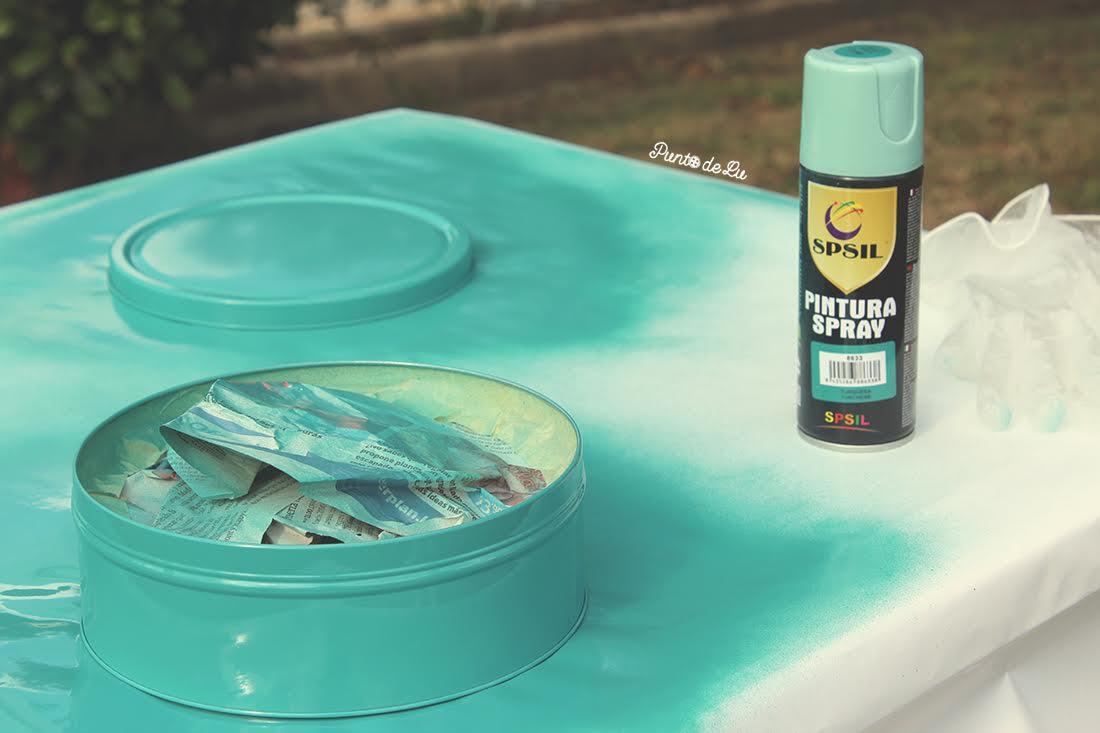DIY deco: caja de lata con forma de botón
