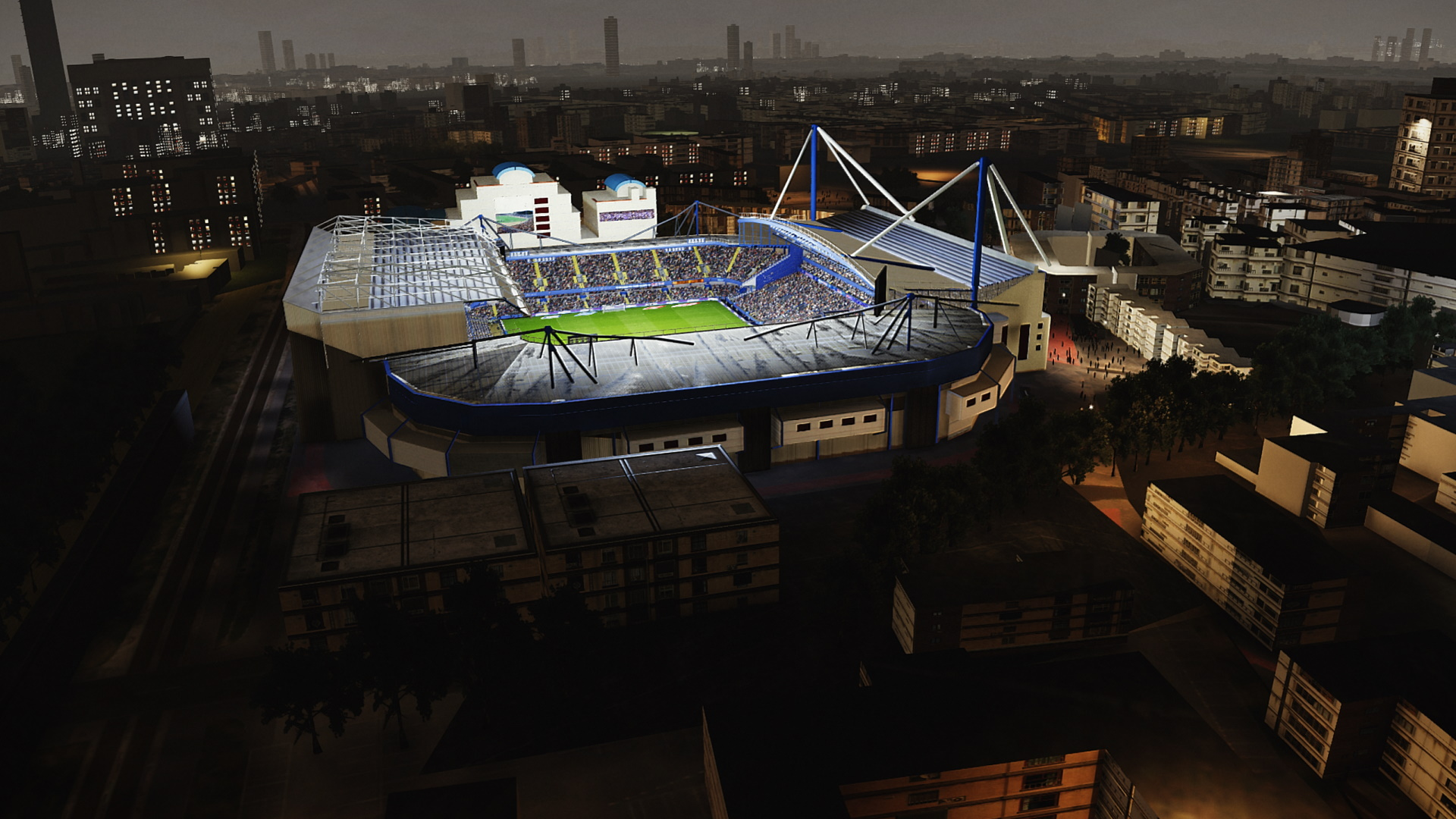 PES  2021 Stamford Bridge Aerial View