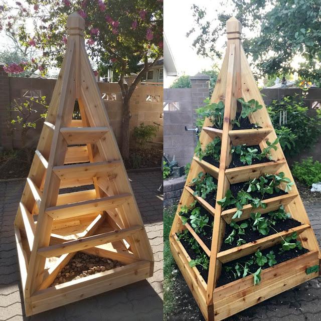 Pyramid Raised Garden Bed