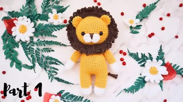 TUTORIAL GRATIS de León Amigurumi Tejido a Crochet