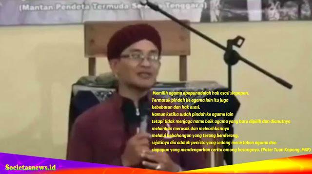 Tanggapan Pater Tuan Kopong, MSF Terhadap Ustad Mualaf yang Mengakui Diri sebagai Anak Kardinal