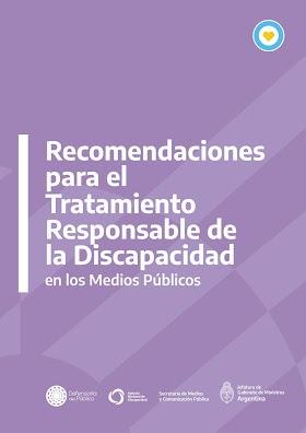 Recomendaciones para el Tratamiento Responsable de la Discapacidad