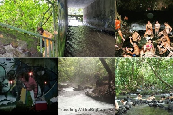 Is it safe to bring kids to swim in the river in La Fortuna?