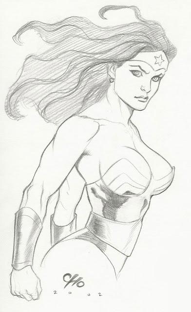Wonder Woman portrait by Frank Cho