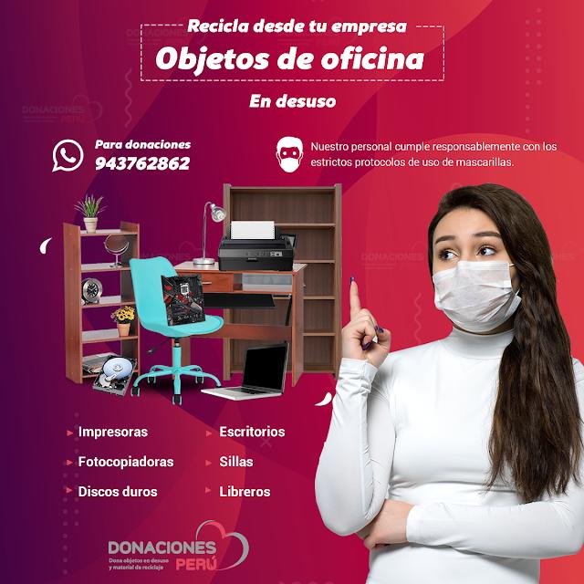 Recicla objetos de oficina en desuso