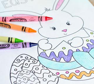 Páginas con dibujos para colorear de pascua. ¡Superbonitos!