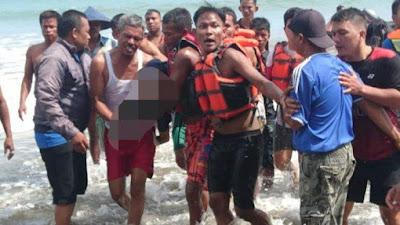 Tim Gabungan Temukan Korban Tenggelam di Pantai Ketaping Pariaman Dalam Kondisi Tak Bernyawa