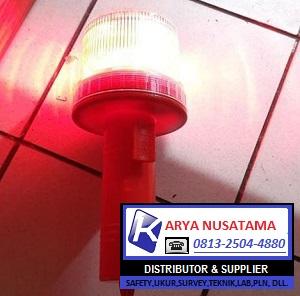 Jual Lampu Navigasi LED Solar Panel Merah di Jember