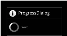 Progress Dialog Box