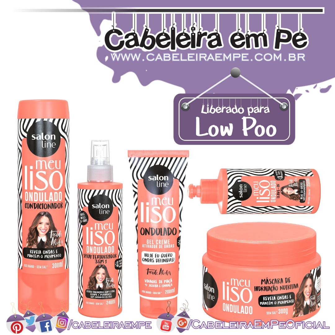 Condicionador, Máscara, Spray, Gel-creme e Leave in Meu Liso Ondulado Taciele Alcolea - Salon Line