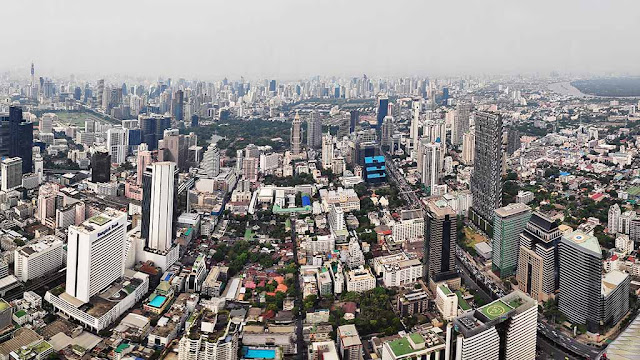 Panoramic View Bangkok City Thailand Shoestring Travel