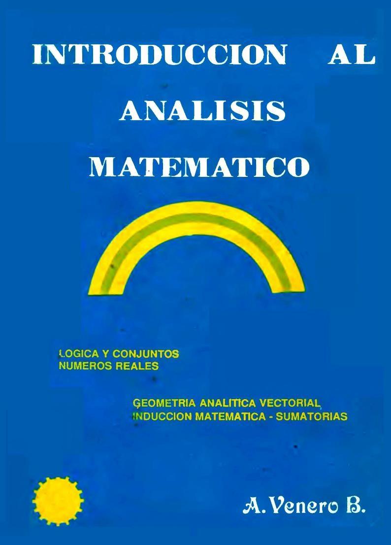 Introducción al análisis matemático – J. Armando Venero B.