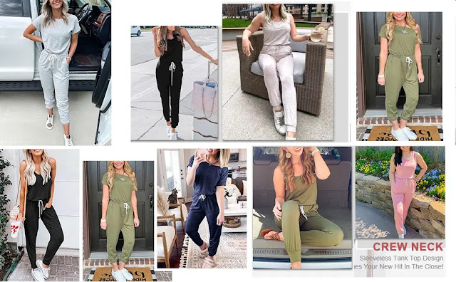 1. LILLUSORY Rompers Jumpsuits Shoulder Drawstring - Features :