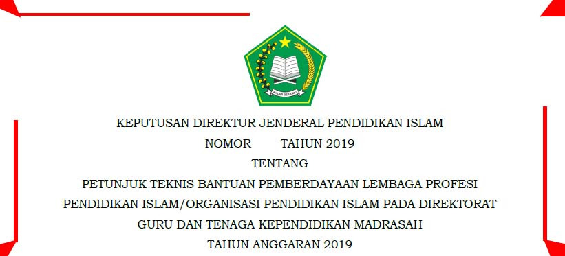 Juknis Bantuan Lembaga GTK Madrasah