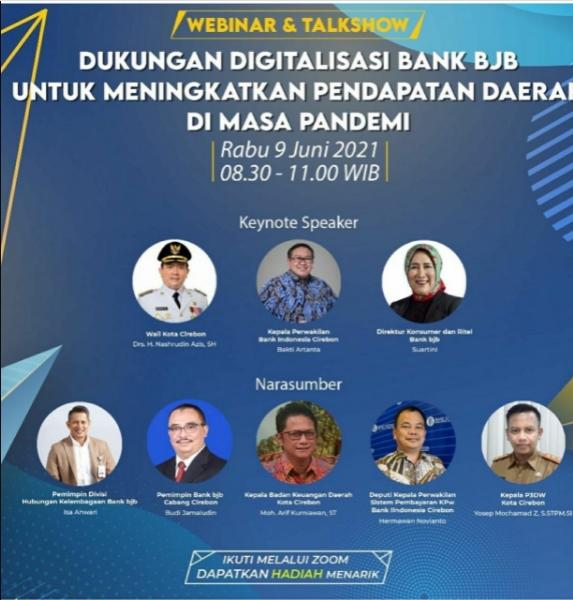 """bank bjb Cabang Cirebon Gelar Webinar """"Dukungan Digitalisasi bank bjb untuk Meningkatkan PAD di Masa Pandemi"""""""