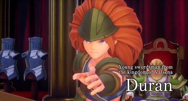 Trials of Mana Switch Duran generic anime swordsman