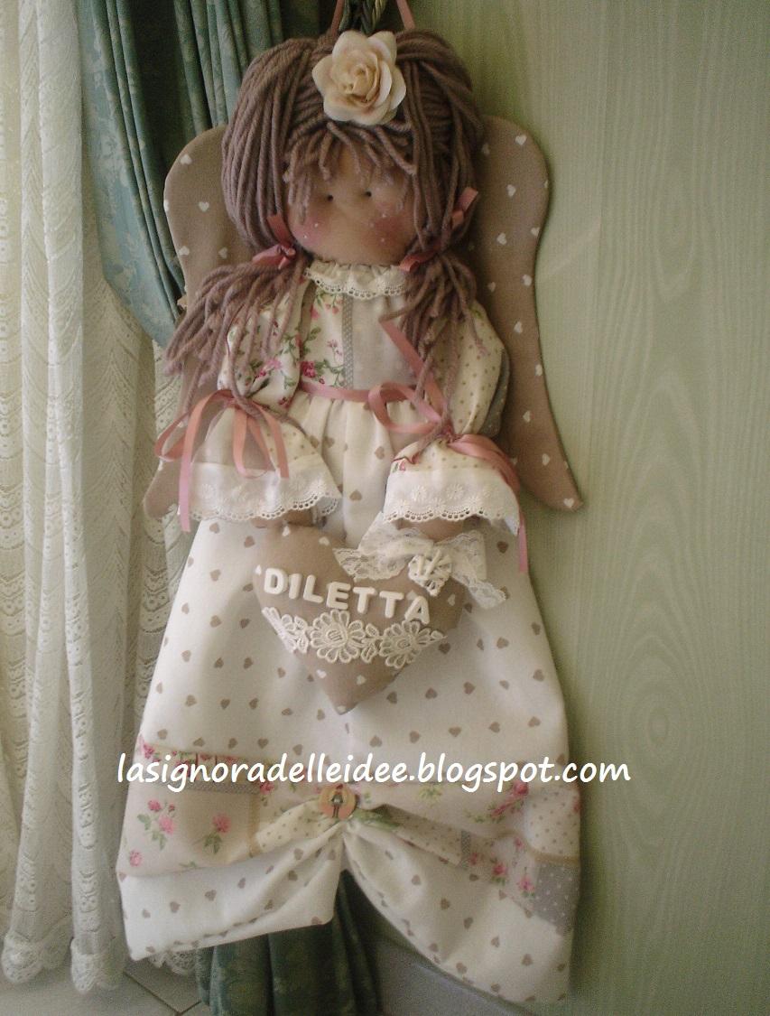 Preferenza La Signora delle Idee: Bambola - angelo porta pigiama o porta  RE31