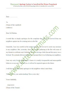 how to write an apology letter to your landlord