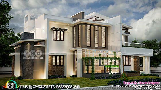 Beautiful 5 BHK contemporary house design