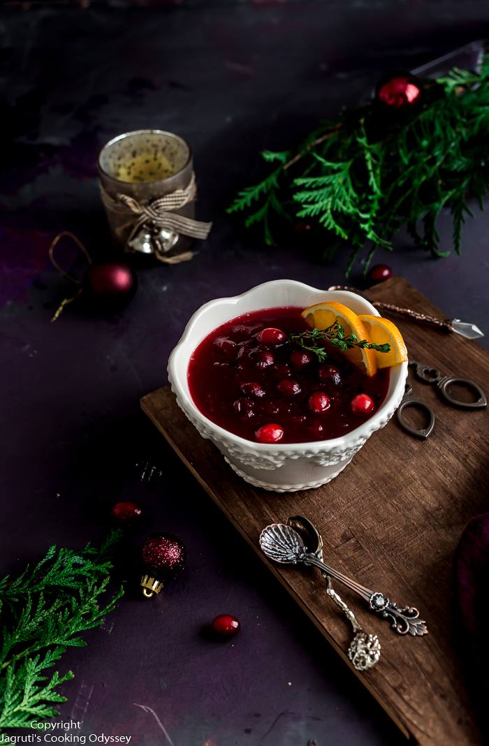 From now on enjoy making your cranberry sauce in an Instant Pot. This Easy Instant Pot Cranberry Sauce uses fresh or frozen cranberries, sugar, orange juice, and spices. This dump and start recipe saves you time and energy and keeps your stove free for other dishes.   This cranberry sauce is totally plant-based and vegan.