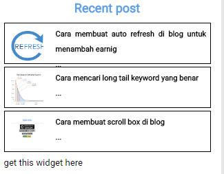 Cara membuat popular post bergerak di blog