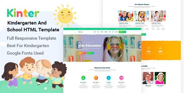 Best Kids Kindergarten & School Template