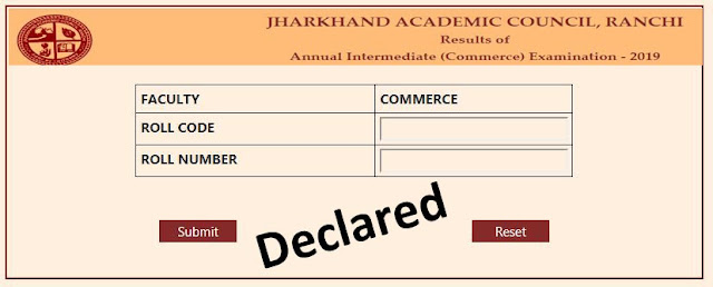 Check JAC Class 12th Science or Commerce Result 2019