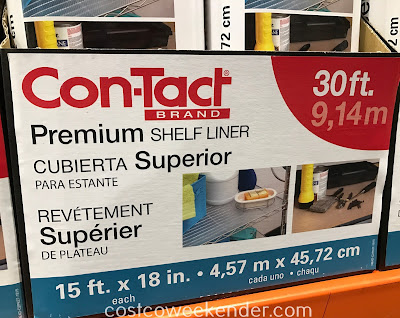 Protect shelves and the inside of drawers with the Con-Tact Premium Shelf Liner