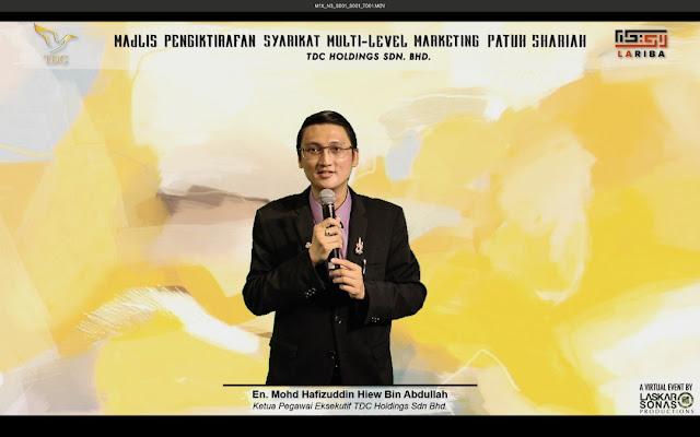Ketua Pegawai Eksekutif TDC Holdings Sdn Bhd