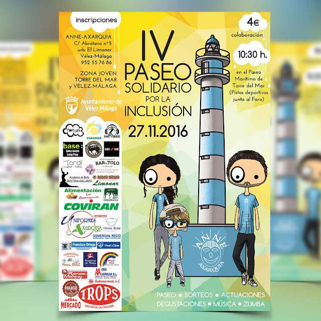 Cartel foltys vs el IV Paseo Solidario por la Inclusion | Poster foltys vs IV Solidary Walk for Inclusion