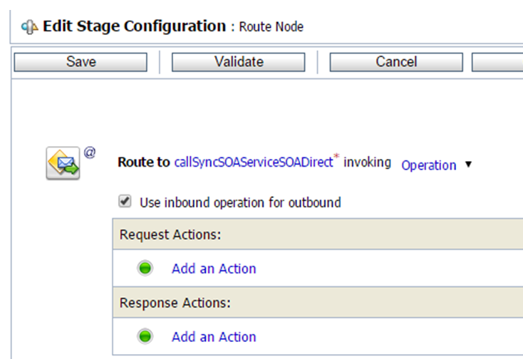 OSB to SOA Using SOA Direct  Message Flow Route Node