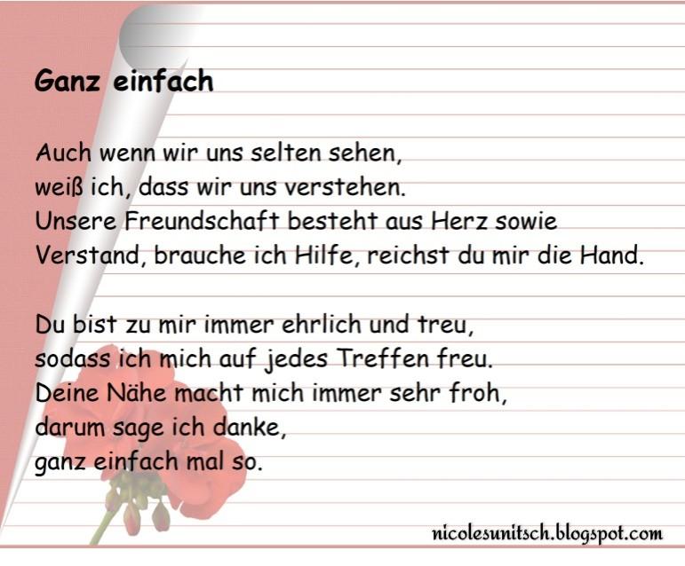 Gedichte Von Nicole Sunitsch Autorin Ganz Einfach Gedicht