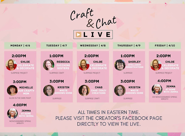 crafting,chat, live, facebook, athomewithjemma.com