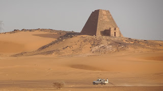 Meroe Pyramids are currently renovated