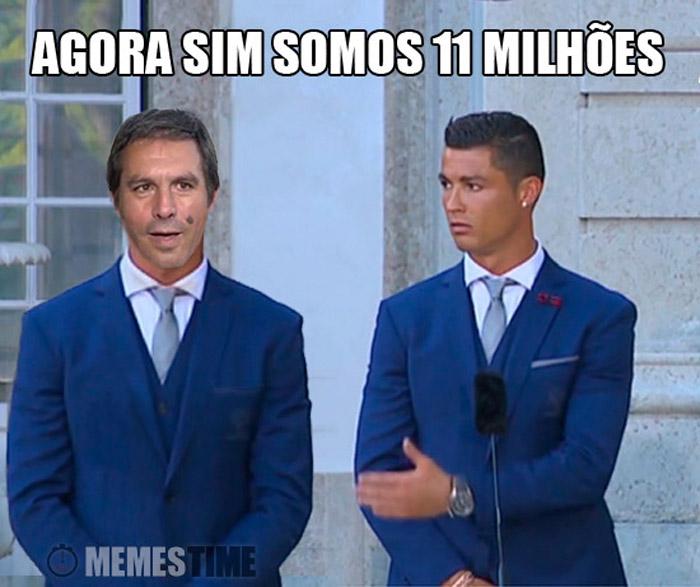 Meme Cristiano Ronaldo e Emplastro – Agora Sim estão os 11 Milhões